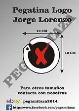 Pegatina Jorge Lorenzo Sticker moto custom gp lorenzo´s land