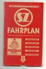 Fahrplan München 1955 Eisenbahn Bergbahn Schffahrt Omnibus Flugverkehr