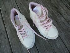 Converse ~ Ivory and Pink Old School Leather High Tops ~ Size 13