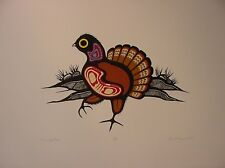 Drumming Grouse By Robert Kakegamic Ltd Edition Print Great Canadian Print Co