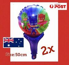 PJ MASKS Foil Balloon Hand Held Balloon Party Fillers Birthday 2pcs Gekko Catboy