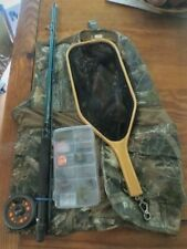 Fly Rod and Reel Kit- Martin Classic Fly Tackle 8' with vest,net & lures- USED