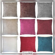 """Large grey chenille cushion covers /Cushions   24""""  Also Other Colours  Set Of 2"""