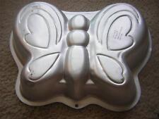 PRETTY BUTTERFLY Aluminum Cake Jello Tin Baking Pan Wilton #2105-2079 NEW