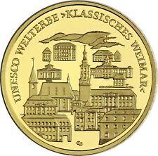 Deutschland 100 Euro 2006 Weimar Goldmünze UNESCO Serie