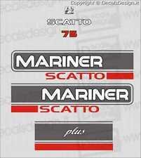 Adesivi motore marino fuoribordo Mariner 75  cv scatto gommone barca stickers