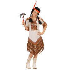 KINDER INDIANERIN KOSTÜM Karneval Indianer Frau Mädchen Verkleidung 122/128 5581
