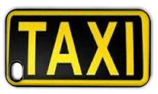 Negro Amarillo Funda Cubierta Trasera De Taxis Taxi Signo se adapta iPhone 6 5 5 C 4 más Ipod Touch