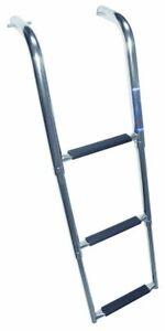 Windline Telescoping Under-Platform Ladder With Stainless-Steel Steps