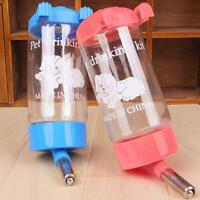Pet Dog Rabbit Water Drinker Dispenser Hang Bottle Auto Fountain Feeder 500ML