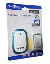 Campanello Wireless Senza Fili 32 Melodie TeKone Jk05-dc Casa Esterno Porta hsb