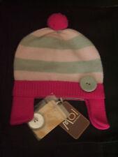 """Bonnet en tricot """" Moi Bébé Clayeux"""" tricolore T 0-3 mois neuf+étiquette"""