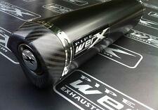 Suzuki GSXR 1000 K5 K6 2005 2006 Black Tri Oval, Carbon Outlet, Exhaust Can