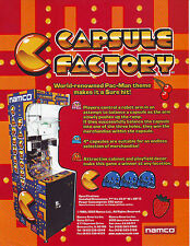 NAMCO CAPSULE FACTORY ORIGINAL NOS MINT ARCADE GAME SALES FLYER BROCHURE 2003