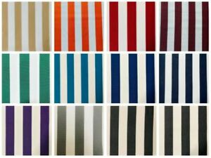 Striped DRALON Outdoor Teflon Upholstery Curtain Home Fabric 320 cm EXTRA Wide