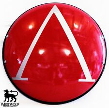18g STEEL GREEK SPARTAN SHIELD -- Red & Silver -- sca/lambda/300/hoplite/armor