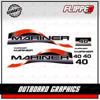 Mariner 40 HP Outboard Decals Graphics Sticker Kit Engine Motor
