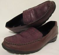ECCO Women's Brown Leather Loafer Flats Shoes Size EU 38 US 7/7.5 Oxfords Casual