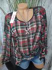 Sheego Chiffon Bluse Tunika Gr. 40 - 58  weich fallend (072) kariert NEU