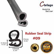 Seal Trim Rubber Strip Pinchweld Metal Clips Car Auto Door Frame Edge Guard 2.5M