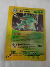RARE REVERSE HOLO NIDOQUEEN 22/144 ORIGINAL SKYRIDGE SET POKEMON CARD GO
