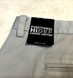 Ashworth Golf EZ Tech Hi Def Luxury Cotton Golfing Pants Mens 42 x 32 New Tags 2