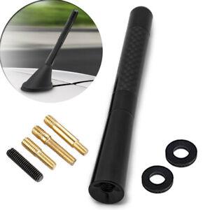 """Universal 4.7"""" 12CM Black Carbon Fiber Screw Aluminum Car Short Radio Antenna"""