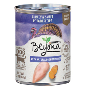 Turkey & Sweet Potato, Purina Beyond Natural Wet Dog Food Pate 6-13 oz