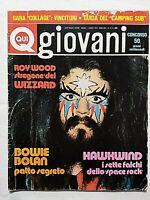 QUI GIOVANI 27-1973 DAVID BOWIE-MARC BOLAN-WIZZARD-MCLAUGHLIN-HAWKWIND