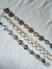 Lot of 3 Chain Belts for Resellers Southwest Silver Gold Tone Large XL
