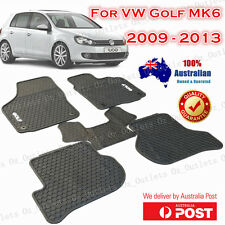Latex Rubber Car Floor Mats Tailor Made VW Volkswagen Golf MK6 2009 - 2013 White