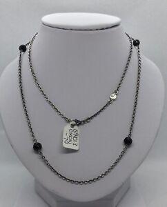 Genuine Pandora Black Rhodium Sterling Silver & Amethyst Necklet 591013 BR AM-70