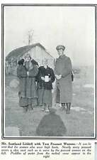 WW1 Mr Scotland Lidderdale With Two Peasant Women In Russian Village