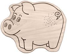 Frühstücksbrett Frühstücksbrettchen Kinderbrettchen in Tierform Motiv: Schwein