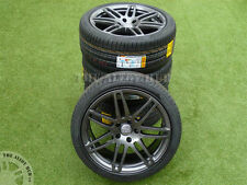 GENUINE AUDI Q7 21INCH 7 DOUBLE SPOKE ANTHRACITE S-LINE ALLOY WHEELS&NEW TYRES