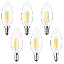 C35 Torpedo Shape LED light bulb for Chandelier & Candelabra 4W 2700k 6 PACK E12