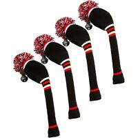 Stripe Golf Knitted Club Head Covers, Set of 4 - Driver, Fairway Woods, Hybrid