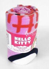 Ufficiale Hello Kitty rosa in Pile Coperta Letto Buttare CUORE
