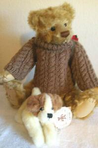 Barton's Creek Artist Bear 82008 Buddy Bear with Backpack and Lil Zippy Dog
