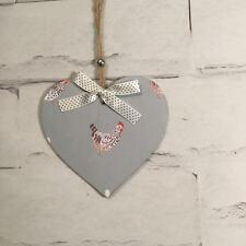 Handcrafted Wooden Heart Door Hanger Sophie Allport Chicken/Hen Shabby Chic Gift
