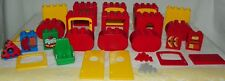 Lego Duplo Lot of Red and Yellow Windows Doors Parts 32 Pieces