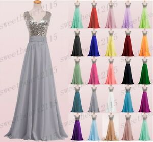 New Chiffon Formal Evening Bridesmaid Dresses Party Ball Prom Gown Dress 6-28