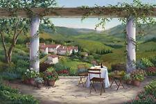 Afternoon In the Vineyard by Barbara Felisky Landscape Wine Grapes Paper Print