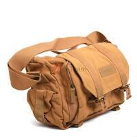 Waterproof Canvas Camera Shoulder Bag Case for Canon Nikon Sony DSLR SLR
