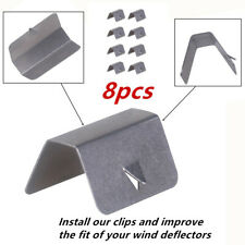 8*Wind / Rain Deflector Channel New Metal Retaining Clips For Heko G3 SNED Steel