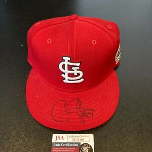 Chris Carpenter Signed 2006 World Series St. Louis Cardinals Game Hat JSA COA