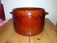 Westbend Brown Glaze Stoneware Crock Bean Pot Half Gallon
