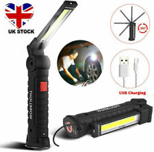 LED COB Rechargeable Work Light Magnetic Torch Flexible Inspection Lamp Cordless