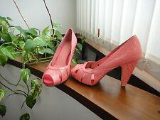 Zapatos peep-toe salmón H&M // H&M salmon peep-toe shoes