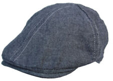 Cool4 Schwarz Melierte 6-Panel Flatcap Schiebermütze Vintage (L) Cap SFC09